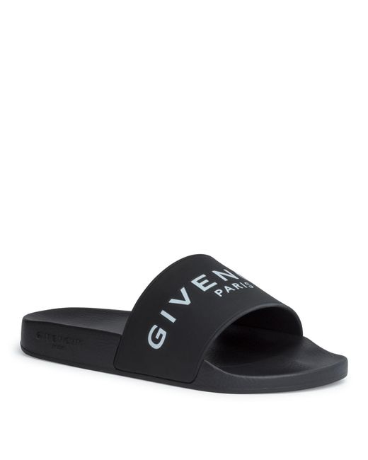 Givenchy - Black Logo Slides - Lyst