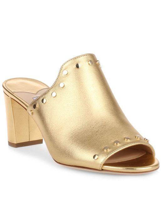 Jimmy Choo - Metallic Myla 65 Gold Mule Sandal Us - Lyst
