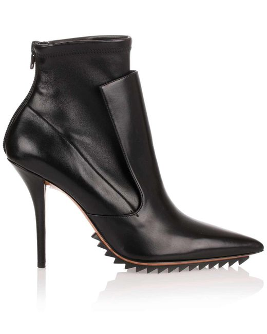 9588225d5913 Lyst - Givenchy Black Leather Stretch Ankle Boot Us in Black - Save 50%
