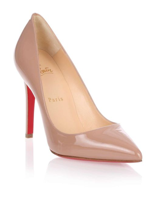 Christian Louboutin | Natural Pigalle 100 Patent Beige Pump Us | Lyst