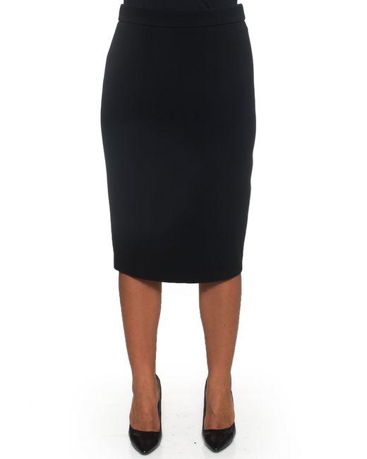 ESCADA | Black Knee Length Skirt | Lyst
