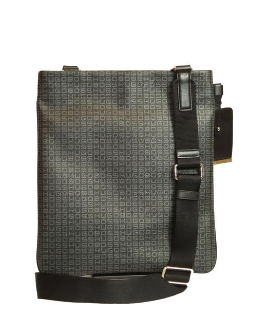 BOSS by Hugo Boss - Black Leather Shoulder Bag for Men - Lyst