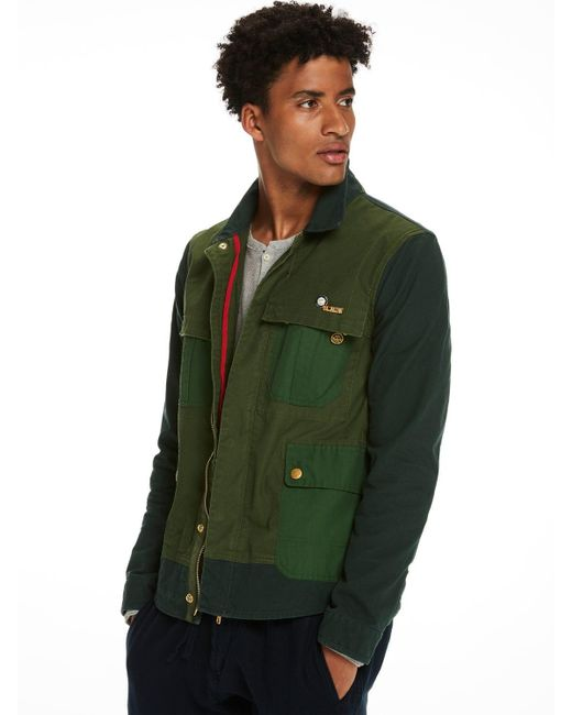 Scotch & Soda | Green Mixed Field Jacket for Men | Lyst