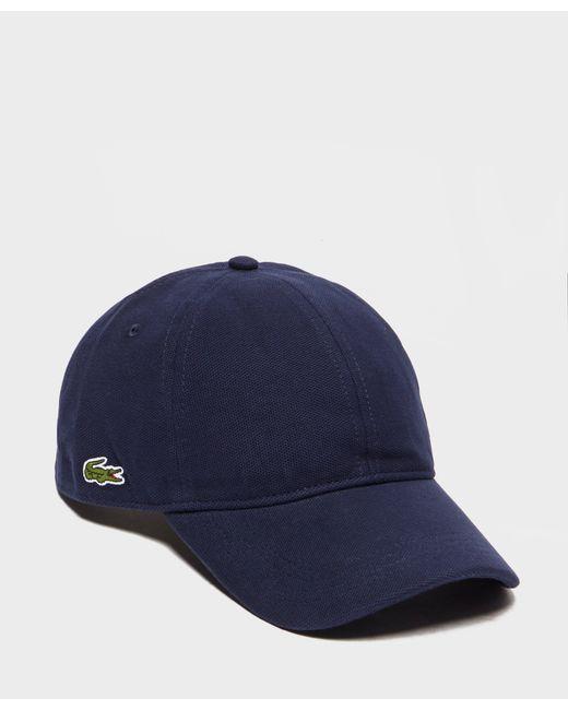 Lacoste | Blue Pique Croc Cap for Men | Lyst
