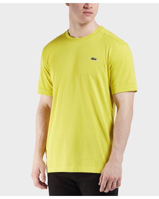 Lacoste - Yellow Croc Logo Short Sleeve T-shirt for Men - Lyst