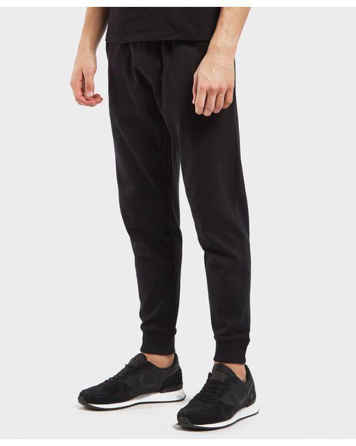 HUGO - Black Dandler Cuffed Track Pants for Men - Lyst