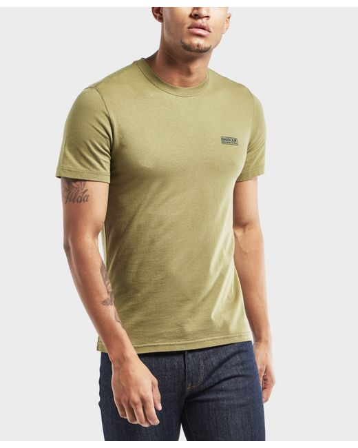 Barbour   Green International Small Logo Short Sleeve T-shirt for Men   Lyst