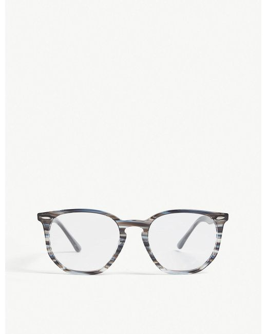 lyst ray ban rb7151 square frame glasses in gray for men White Ray-Ban RB2132 ray ban gray rb7151 square frame glasses for men lyst