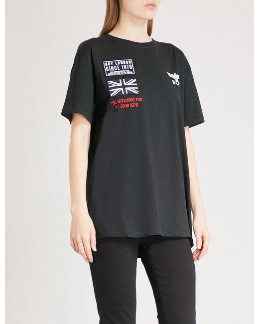 BOY London - Black Concert Cotton-jersey T-shirt - Lyst