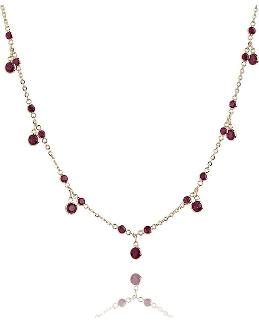 Annoushka   18ct Yellow Gold And Ruby Nectar Cherry Droplet Necklace   Lyst
