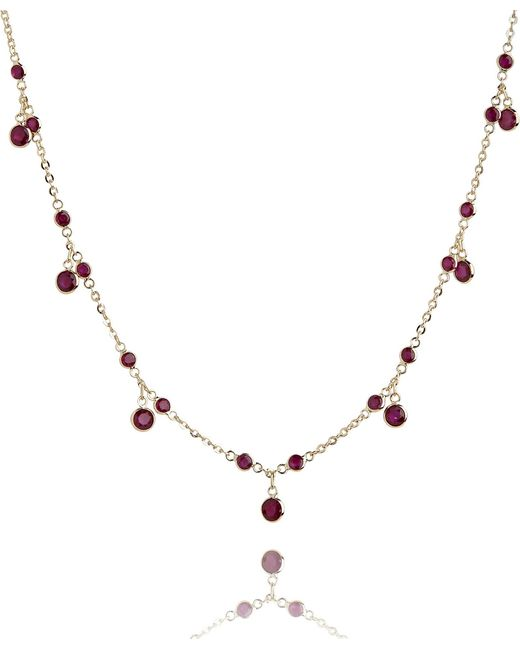 Annoushka | 18ct Yellow Gold And Ruby Nectar Cherry Droplet Necklace | Lyst
