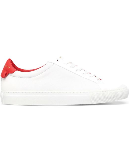 Givenchy - White Knot-detail Leather Trainers - Lyst
