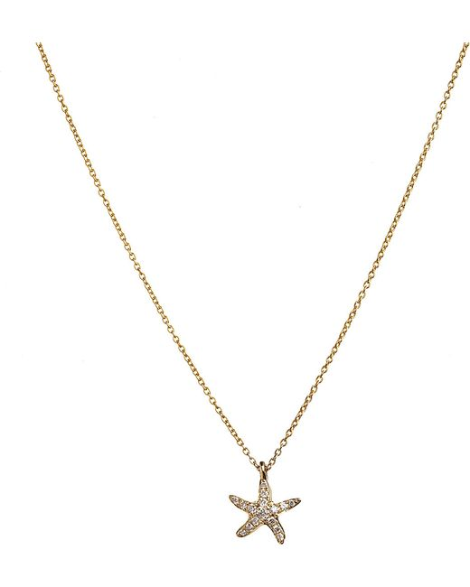 Annoushka | Metallic Love Diamonds 18ct Yellow-gold And Diamond Starfish Pendant Necklace | Lyst