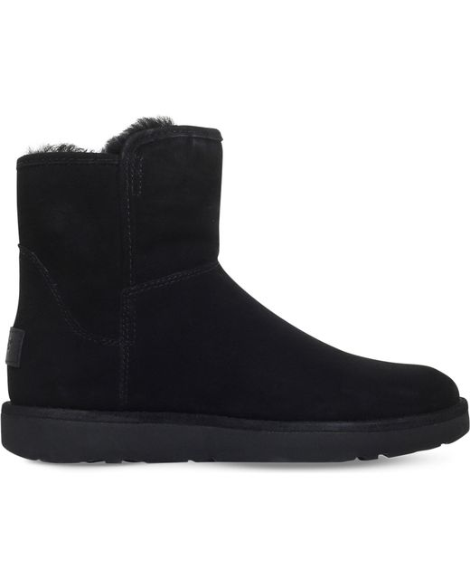 Ugg   Black Abree Mini Suede Ankle Boots   Lyst