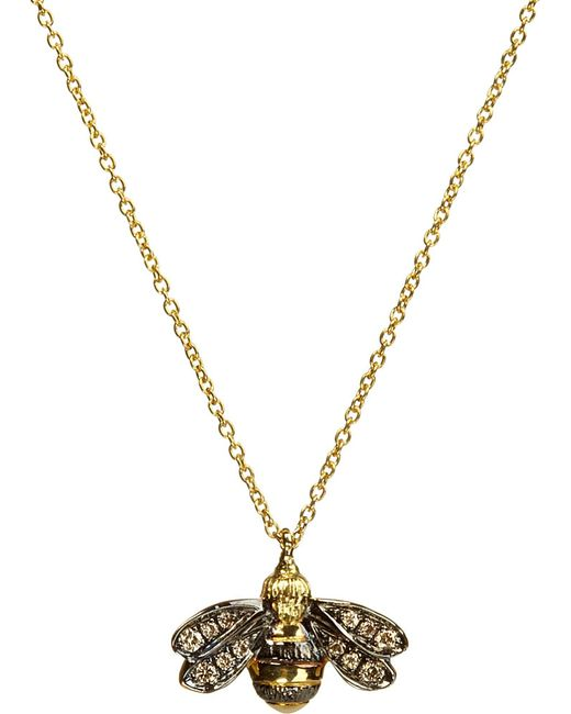 Annoushka | Love Diamonds 18ct Yellow-gold Bee Pendant Necklace | Lyst