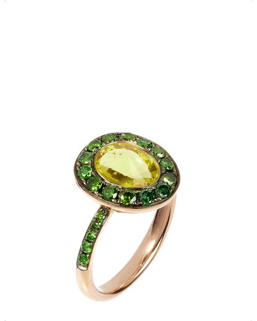 Annoushka | Green Dusty Diamonds 18ct Rose-gold | Lyst
