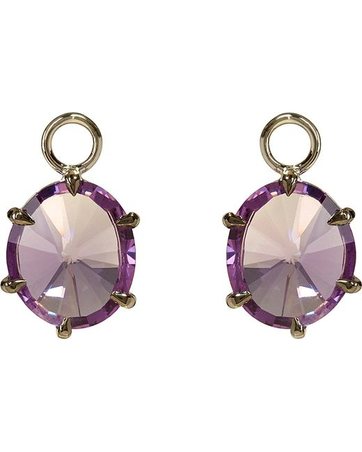 Annoushka | Purple 18ct White-gold And Amethyst Earring Drops | Lyst
