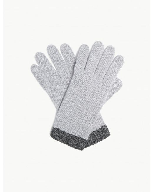 The White Company - Gray Classic Cashmere Gloves - Lyst