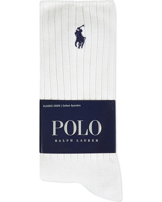 Polo Ralph Lauren | White Classic Crew Socks for Men | Lyst