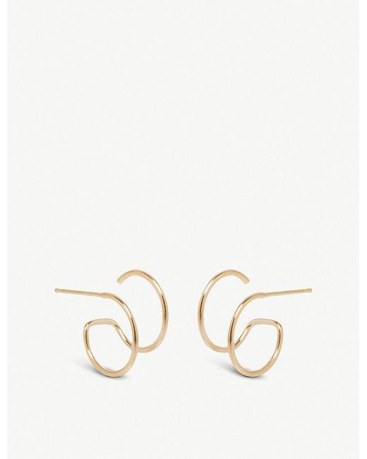 The Alkemistry - Metallic Zoë Chicco Illusion 14ct Yellow-gold Double Hoop Earrings - Lyst
