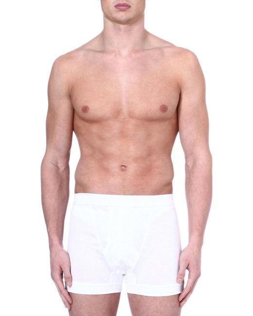Zimmerli - White Royal Classic Cotton Boxers for Men - Lyst