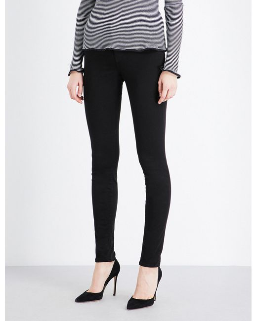 J Brand - Black 485 Luxe Sateen Super-skinny Mid-rise Jeans - Lyst