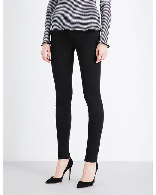 J Brand | Black 485 Luxe Sateen Super-skinny Mid-rise Jeans | Lyst