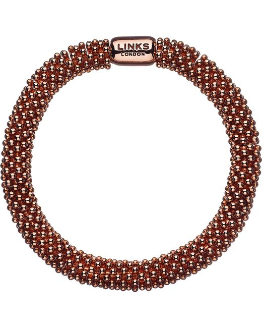 Links of London | Pink Effervescence Star Rose-gold Plated Bracelet | Lyst