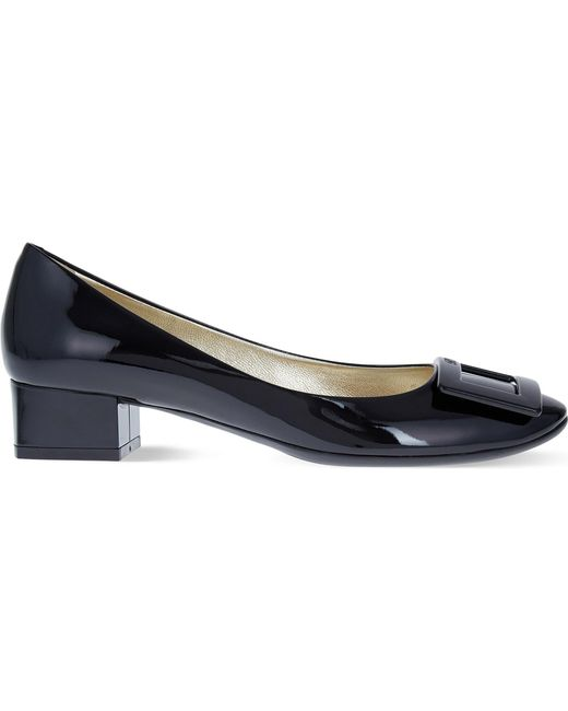 Roger Vivier - Black Belle De Nuit Patent-leather Courts - Lyst