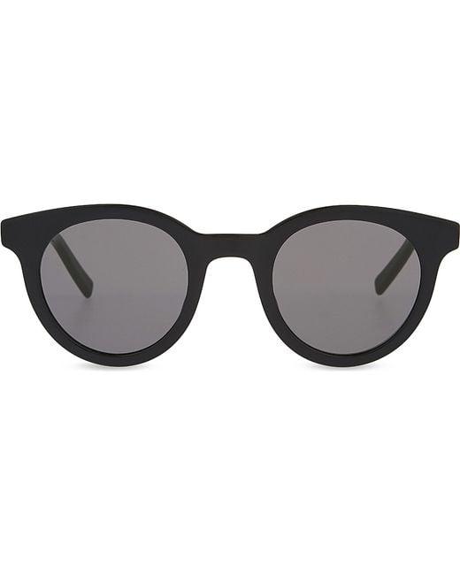 Dior Black Frame Glasses : Dior Black Tie 182s Round-frame Sunglasses in Black Lyst