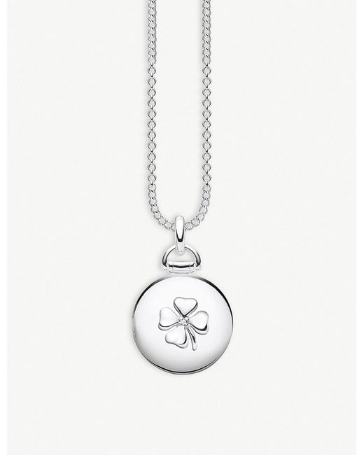 Thomas Sabo - Metallic Cloverleaf Sterling Silver And Diamond Locket - Lyst