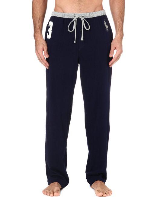 Polo Ralph Lauren   Blue Number 3 Pyjama Bottoms for Men   Lyst