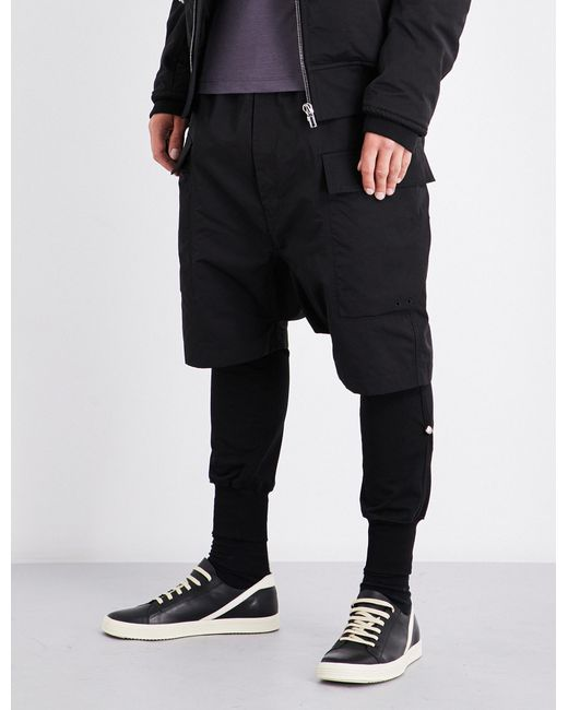 Rick Owens | Black Cargo Cotton-blend Shorts for Men | Lyst