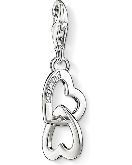 Thomas Sabo - Metallic Charm Club Hearts Diamond Pendant - Lyst