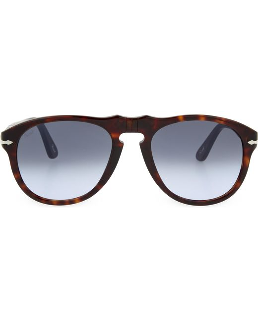 Persol - Black Havana Aviator Sunglasses for Men - Lyst