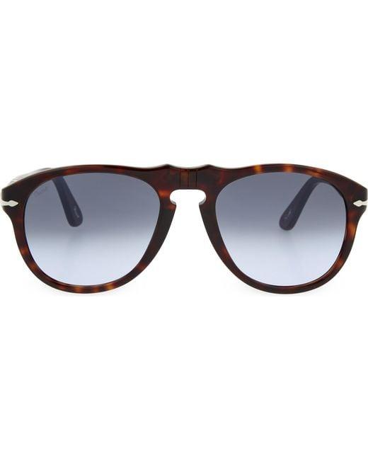 Persol | Black Havana Aviator Sunglasses for Men | Lyst