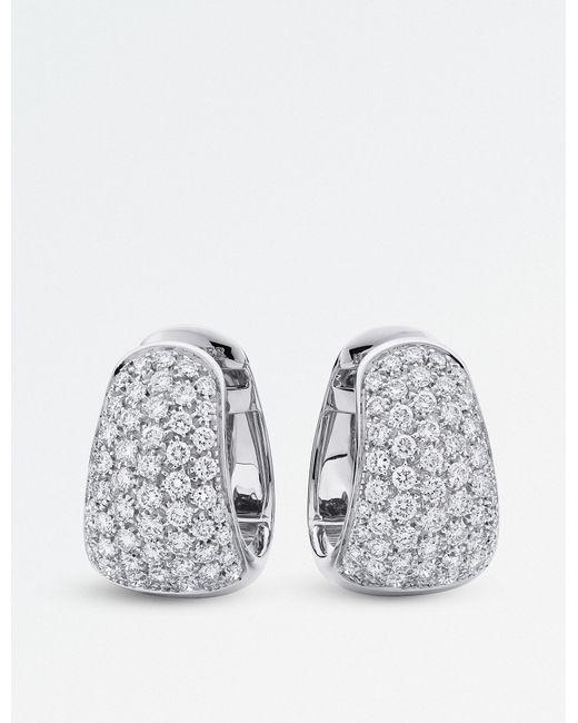 BUCHERER JEWELLERY - Metallic Classics 18ct White-gold Diamond Earrings - Lyst
