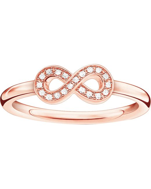 Thomas Sabo - Metallic Infinity Sterling Silver And Diamond Ring - Lyst