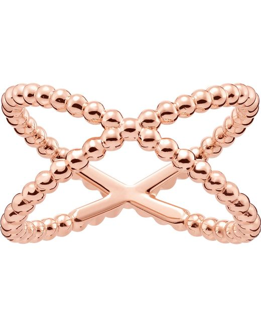 Thomas Sabo - Metallic Criss-cross Dot 18ct Rose Gold-plated Ring - Lyst
