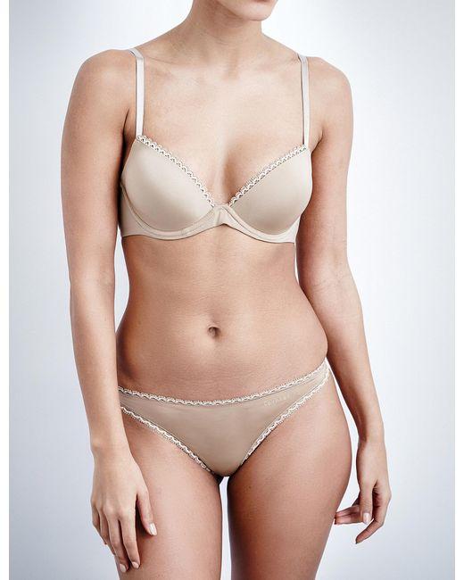 Calvin Klein   Natural Seductive Comfort Underwired Plunge Bra   Lyst