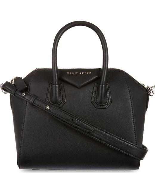 Givenchy - Black Antigona Mini Leather Tote - Lyst