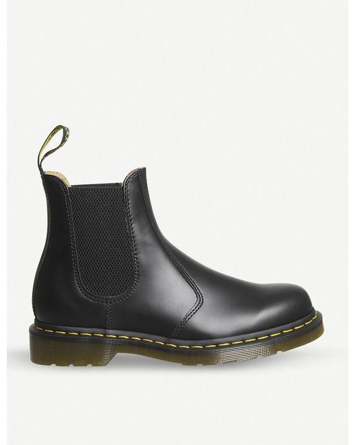 Dr. Martens Black 2976 Leather Chelsea Boots for men