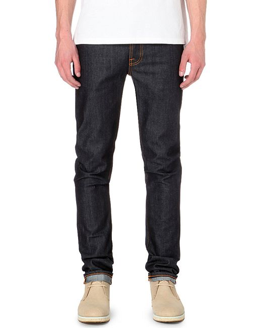 Nudie Jeans | Blue Grim Tim Slim-fit Straight Organic Jeans for Men | Lyst
