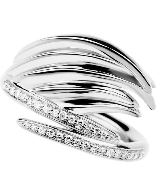 Shaun Leane - White Feather Silver And Diamond Ring - Lyst