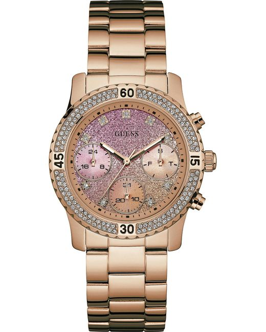 Guess - Pink W0774l1 Confetti Stainless Steel Watch - Lyst