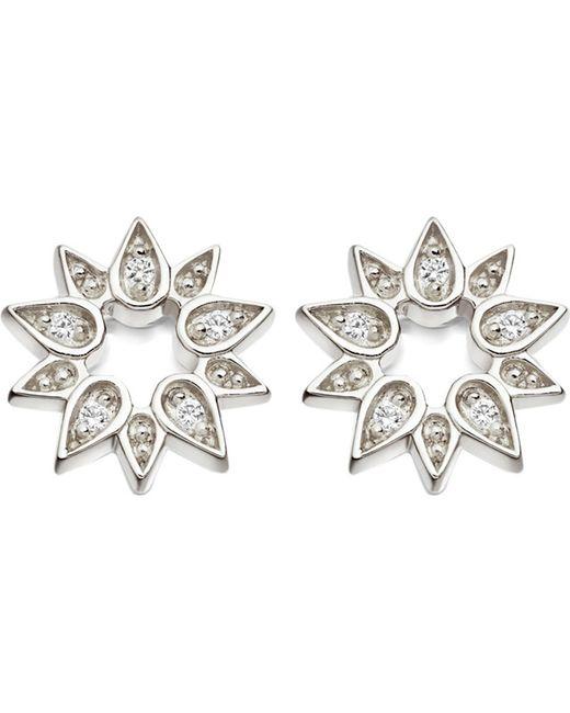 Astley Clarke - Metallic Mini Sun Biography Sapphire Stud Earrings - Lyst