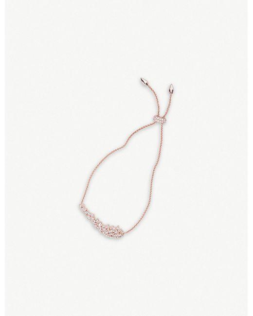 Kendra Scott - White Nolan 14ct Rose-gold And Cubic Zirconia Bracelet - Lyst