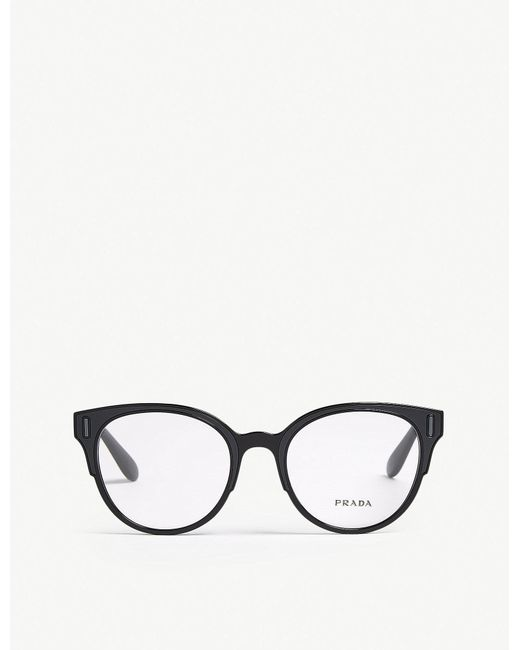 Prada - Womens Green Pr08uv Round-frame Glasses - Lyst
