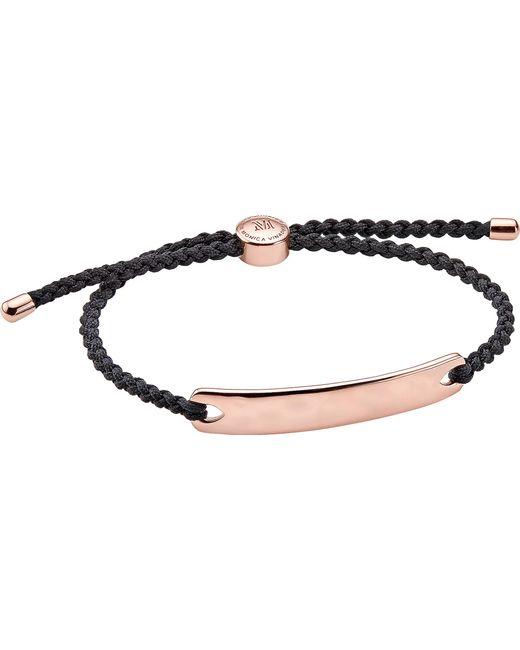 Monica Vinader - Black Havana 18ct Rose Gold-plated Friendship Bracelet for Men - Lyst
