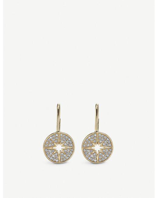 The Alkemistry Metallic Sydney Evan Starburst 14ct Yellow-gold And Diamond Earrings